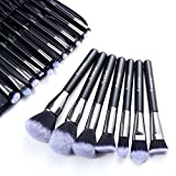 Make up Pinsel Set Anbber 18 Stück Professionelles Schmink Pinselset,Schminkpinsel Kosmetikpinsel für makellosen Make-up-Look mit Etui aus PU-Leder,Ideal Geschenke