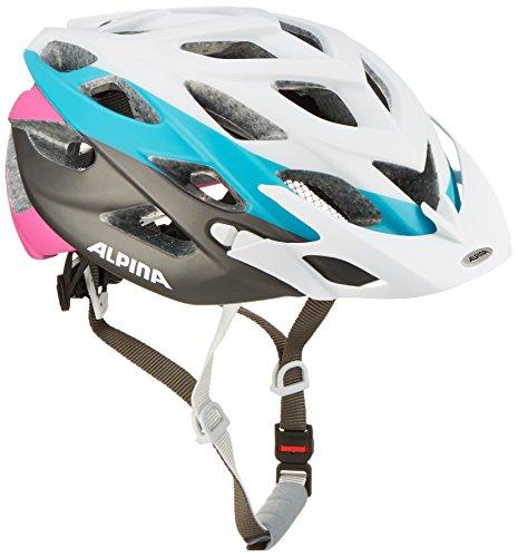 Alpina Radhelm D-Alto LE, White-Titanium-Cyan-Pink, 52-57 cm, A9635.1.20 (Helm White Alpine)