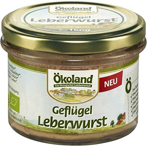 Ökoland Geflügel-Leberwurst (160 g) - Bio (Bio-putenfleisch)
