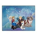 Disney Frozen Die Eiskönigin Teppich in 95cm x 125cm für das Kinderzimmer - Kinderzimmerteppich Loyal Friends mit den beliebten Helden des Films Frozen