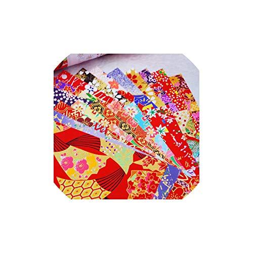 Schneiden Fischnetz (Printed Geschenkpapier Geburtstags-Geschenk Diy Verpackung Origami Schneiden von Material, Stil E 7x7cm)