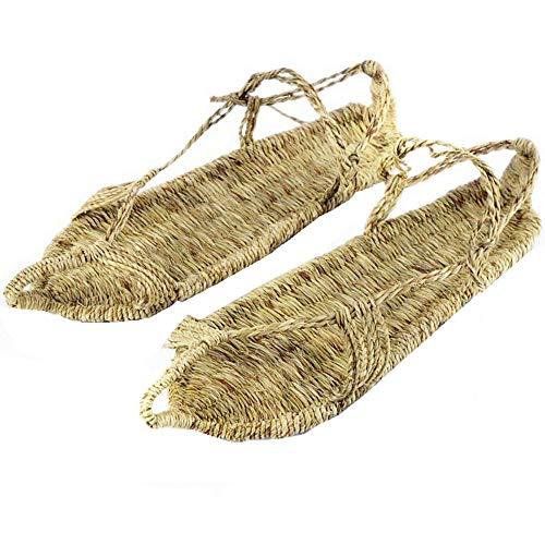 Flip-Flops Outdoor Sports Sandals Sandals Herren und Damen Handgestrickte Schuhe Strohsandalen Sommerhausschuhe, 44