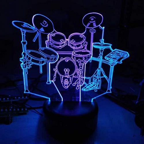 Nachtlicht-Trommel-Rahmen-3D Visuelles Nachtlicht-Kreative Bunte Note, Die Geführte Lampe Der Lampe 3D Geschenk-Atmosphäre Geführtes Nachtlicht Lädt (Elefanten-baby Lädt)