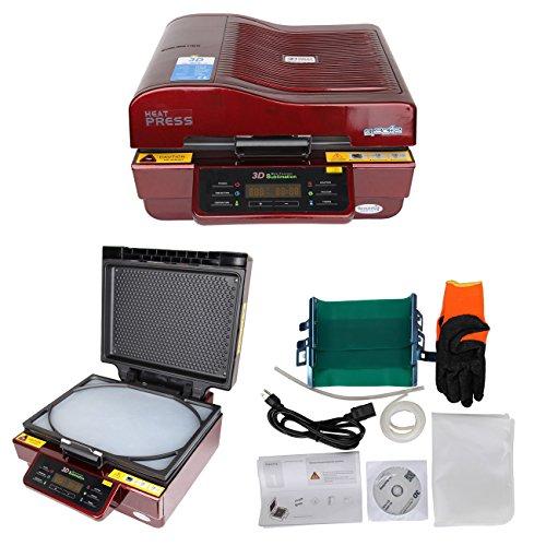 Ridgeyard 2800W 3D Vakuum Wärmeübertragung Sublimation Maschine T-Shirt Platten Glas Becher - X-schwer Entflammbar Carbon