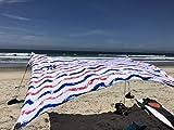 Neso Tende Tenda da Spiaggia con Sabbia Anchor, Portatile ombrellone–2.1m x 2.1m–Brevettato Angoli rinforzati, Red And Blue Waves