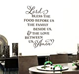 wandaufkleber 3d schlafzimmer Accent Wall Decor Sticker Lord Bless The Food Before Us The Family Beside Us The Love Betw