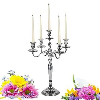 albena shop 73-100 Amila 5-arm candelholder chandelier 60 cm / 43 cm silver