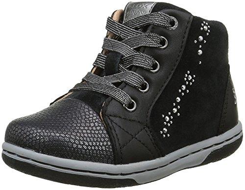 Geox B Flick D, Chaussures Marche Bébé Fille, Schwarz (BLACKC9999), 23 EU