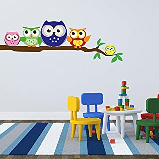 adesiviamo 1132-l Owls-Wall Sticker-Wall Sticker