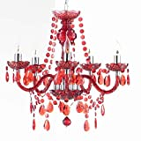 FEUDAL ROT 5 ARM DESIGN KRONLEUCHTER by roomproducts