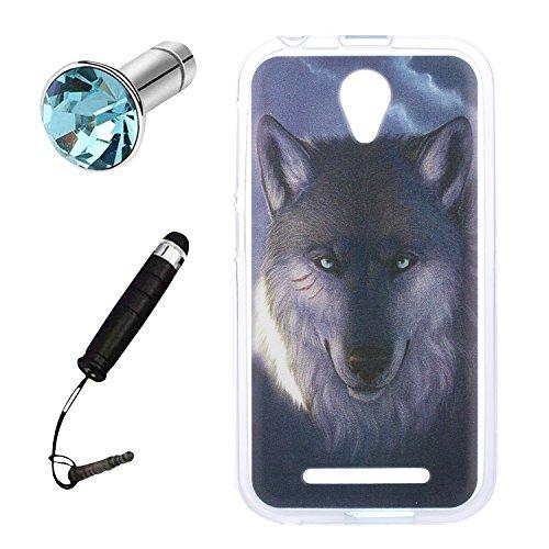 Lusee® Silikon TPU Hülle für ZTE Blade A110 / Blade L110 Schutzhülle Case Cover Protektiv Silicone Vicious Wolf