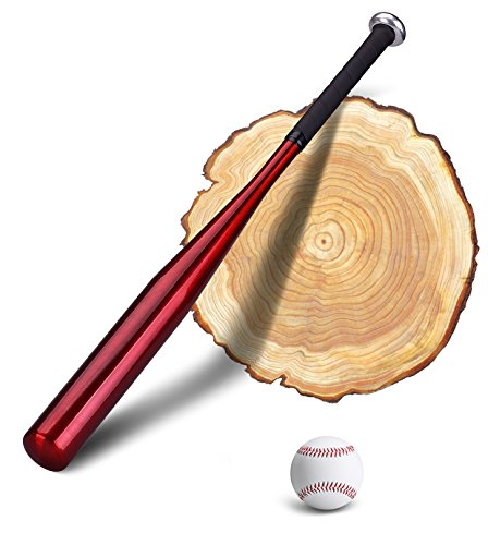 PLUSINNO 28 Zoll Aluminium Baseballschläger mit Baseball und Gummierten Handgriff