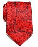 Corbata de microfibra con estampado de cachemir para hombres de Retreez - Rojo y azul marino