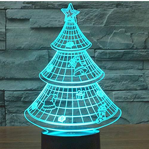 WangZJ 3d Led Illusion Light / 7 colores Light/optical