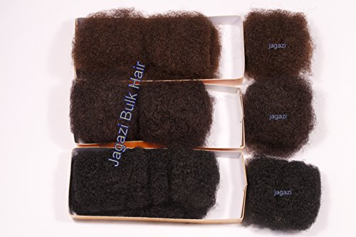Human Hair Afro Kinky Bulk. Black Colour 1B: 8 inches Premium Now Menschliches Haar Afro verworren Massengut. Schwarz Farbe 1B : 8 Zoll Premium- Jetzt Premium-