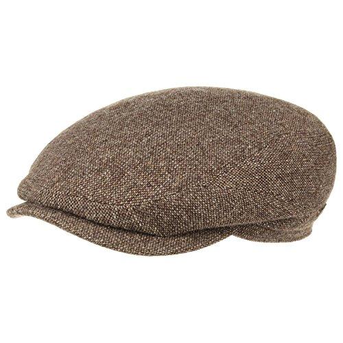 Belfast Woolrich Coppola Stetson cappello piatto berretti piatti 62 cm - marrone