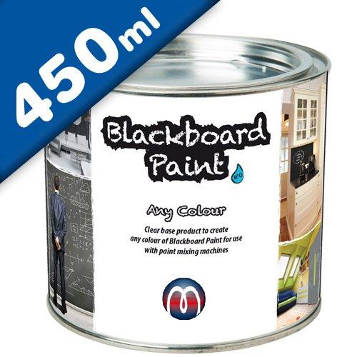 Tafelfarbe Schultafel-Lack transparent 0,45 L - zum selber mischen, jeder Farbton möglich - Fügen Sie einfach die gewünscht Mischfarbe hinzu und Sie erhalten 0,5 L Tafellack. Diese reichen für 5m²