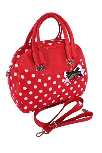 Fifties POLKA DOTS rockabilly Cherry Bow Handtasche Tasche -
