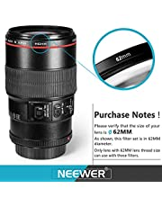 62MM : Neewer 62MM Professional UV CPL FLD Lens Filter and Close-up (+1, +2, +4, +10) Accessory Kit for Lenses with a 62mm Filter Size