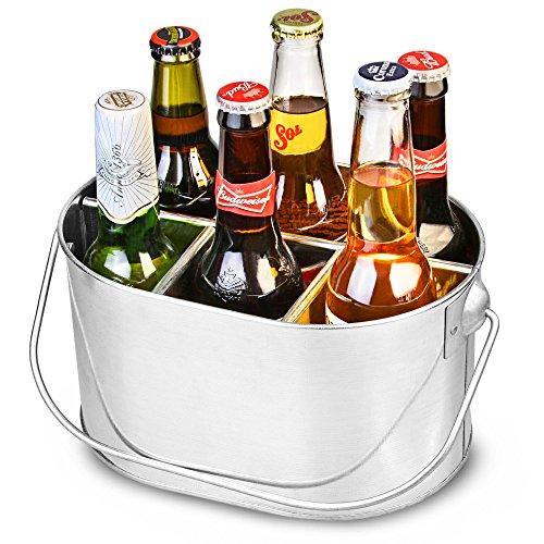 Stahl verzinkt Flasche Caddy–Getränke Carrier mit Griff für 33cl Bier Flaschen