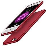 RANVOO Coque iPhone 6/6s Élégant Ultra-mince en Plastique TPU Silicone Rigide de Protection Matte,Housse pour iPhone 6/iPhone 6s Dur Bumper Antichoc Extreme,Étui de iPhone 6 ou iPhone 6s,Rouge