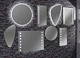 Fackelmann Mirrors Spiegel Rund/Durchmesser 60 cm/Spiegelelement Hängend für Das Gäste WC Oder Badezimmer