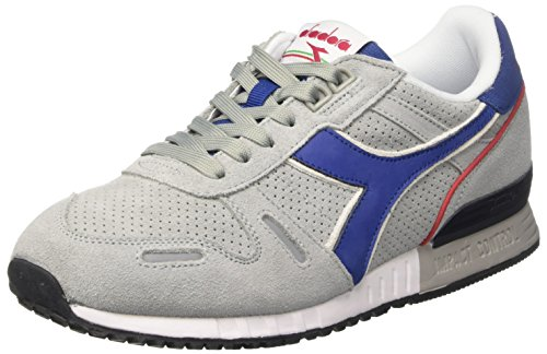 Diadora Unisex-Erwachsene Titan Premium Sneaker Low Hals Grau (Grigio Grattacielo/blu Limoges)