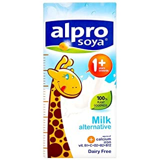 Alpro Junior From 1 Year Onwards Soya Milk Alternative 1 Litre (Pack of 6)