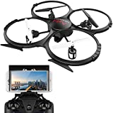 U818A WIFI FPV Drone 720P HD Camera Quadcopter with Headless Mode 3D Flip - Easy Control for Beginners  - Include Bonus Battery