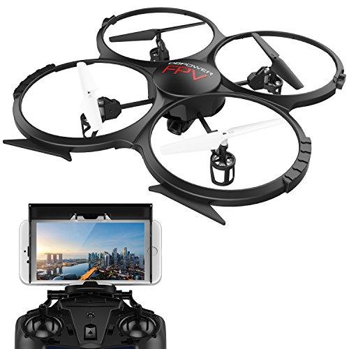 Drone con FPV WIFI versión U818A con cámara HD de 720P de...