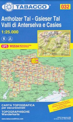 32 Antholzer Tal – Gsieser Tal, Valli di Anterselva e Casies, 1:25.000 randonnée topographique, le cyclisme et le ski de randonnée carte (Dolomites, Alpes)