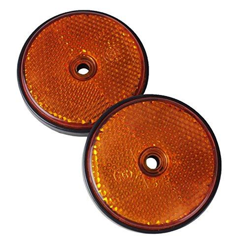 Rückstrahler rund Ø60mm orange Schraube Paar Katzenauge