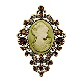 Sticks Jewelry Retail Austriae Kristall Strass Vintage Style Fashion Viktorianischer Stil Brosche Lady Schal Brosche Pins Hot Verkauf