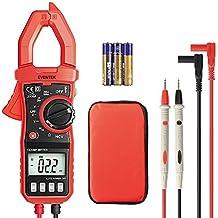 Eventek Multímetro digital ET820 avanzada metro de la abrazadera, probador de voltaje AC / DC, Corriente AC, Voltaje , Resistencia, Continuidad, naranja y negro