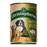 Christopherus Alleinfutter für Hunde, Nassfutter, Büffel, 100 % Pur, 400 g Dose