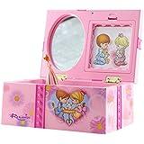 Dehang - Joyero Caja de música mecánica para bebés - Diseño de Caja de niños con princesa - Juguete con sonido instrumento musical regalo para bebés niños niñas chicas mujeres