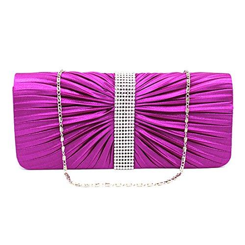 YYW Evening Bag, Poschette giorno donna Purple