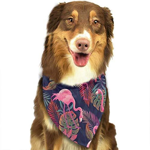 ngo und Palm verlässt Muster stilvoller Welpen-Bandana-Hundekatze-Geburtstags-Schal ()