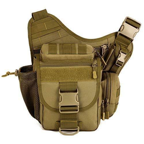 Aseun Fashion Nylon Multi-functional Tactical SLR Camera Bag Versipack Backpack Bag Waterproof Military Bags Messenger Molle Bag Messenger Style Camera Bag