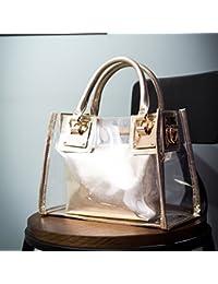 2e30fee794 Woopower moda donna borsa a tracolla per mamma Candy color trasparente  borsetta Tote spiaggia borse a