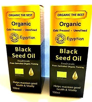 Organic Egyptian Black seed Oil Cold Pressed Unrefined,Certified Nigella 100 ml