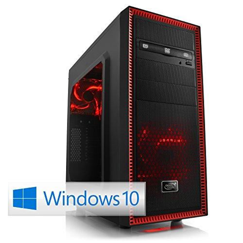 CSL Sprint D10031X inkl. Windows 10 - AMD FX-8370E 8x 3300MHz, 16GB RAM, 240GB SSD, 1000GB HDD, GeForce GTX 1060, DVD, USB 3.0