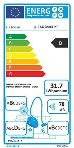 Zanussi ZAN7880UKE Cyclon Clean Pet Bagless Cylinder Vacuum Cleaner, 800 W