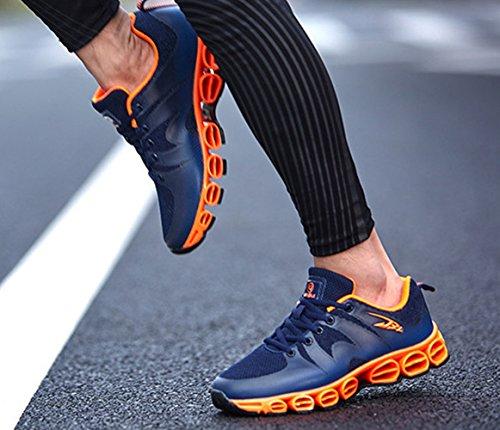 Chaussure de sport basket mode homme sneakers ressort courir marcher exercice Bleu