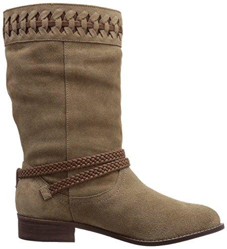 Very Volatile Bynes Damen Rund Wildleder Mode Mitte Calf Stiefel Stone