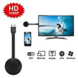 Bonega ® WiFi Receiver 1080P Audio Video DLNA Airplay Miracast Dongle Display HDMI Plug para Smart Phones Tablet PC Tablet HDTV Monitor Compatible con iOS 9.0 Anterior Y Android 4.4 y Superior System