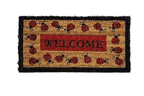 Ladybug Welcome Coir Mat