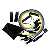 11 Pcs/Set Latex Resistance Bands Crossfit Training Exercise Yoga Tubes Pull Rope,Rubber Expander Elastic Bands Fitness with Bag mm