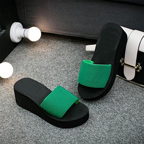 Vovotrade Frauen Sommer Sandalen Slipper Indoor Outdoor Flip-Flops Strand Schuhe Schwarz