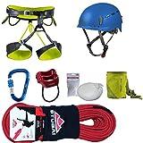 Camp Kletter-Set 6.0 - Gurt Gr.S + Kletterseil 50m + Kletterhelm + Karabiner + Tube + Chalkball + Chalkbag